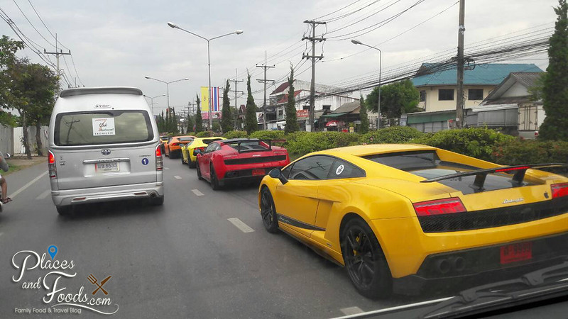 chiang rai yellow lamborghini from the van