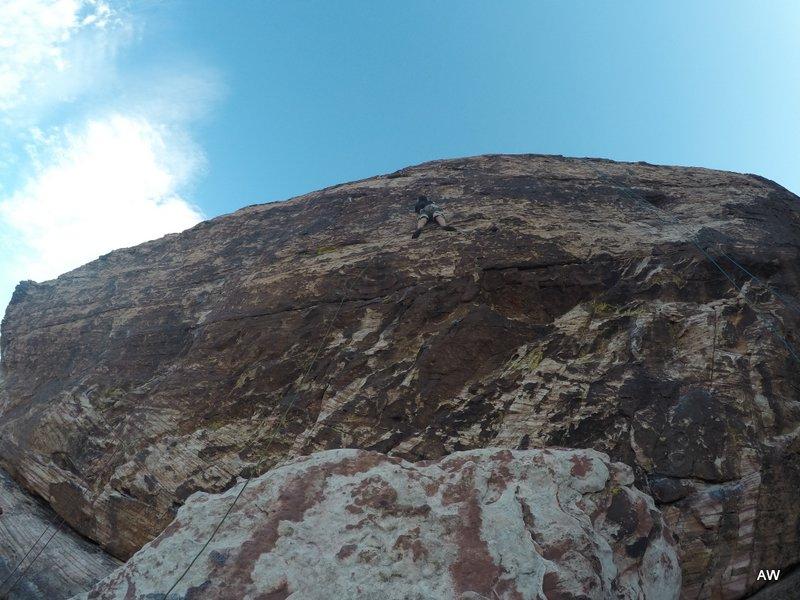 S climbing at Cannibal Crag.