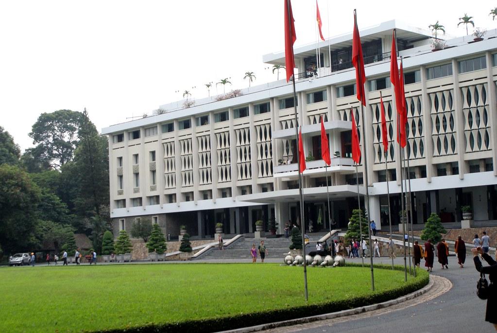 Facade du Palais de la réunification à Ho Chi Minh.