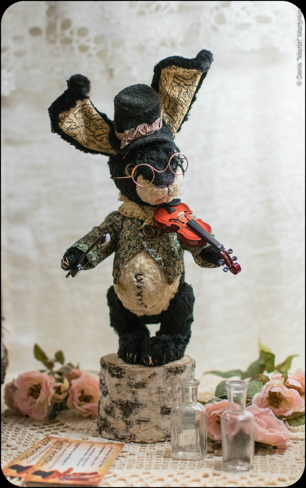 Rabbit with Violin