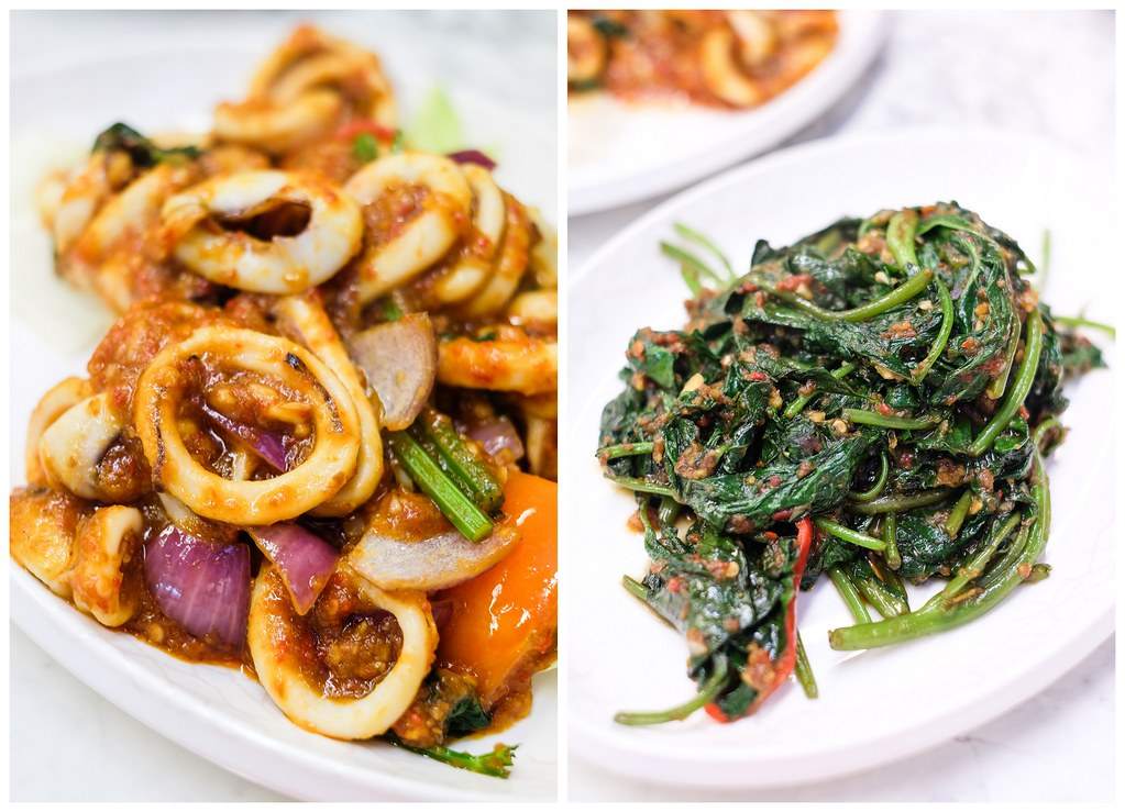 Nan Hwa Fishboat: Sotong on the left & Vegetable on the right