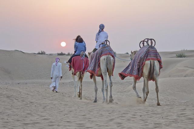 Sunset from the desert