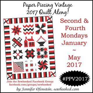 Paper Piecing Vintage is returning in 2017 as a Quilt Along!