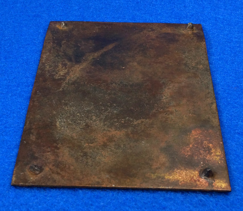 RD12929 Vintage Brass Plate Arcweld Mfg. Co. Seattle Wash. Life Raft 18 Persons DSC06615