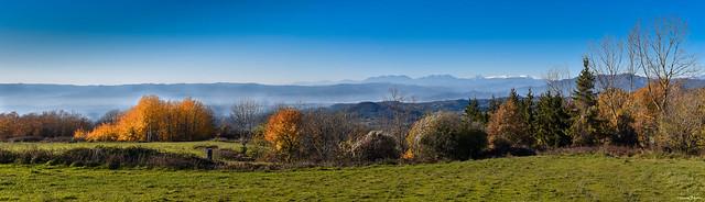 Matí de tardor a Cantonigròs, comarca d'Osona
