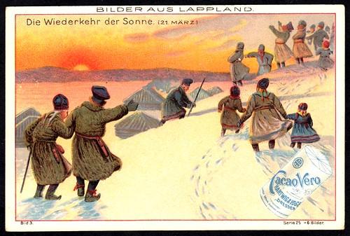 German Tradecard - The Return of the Sun