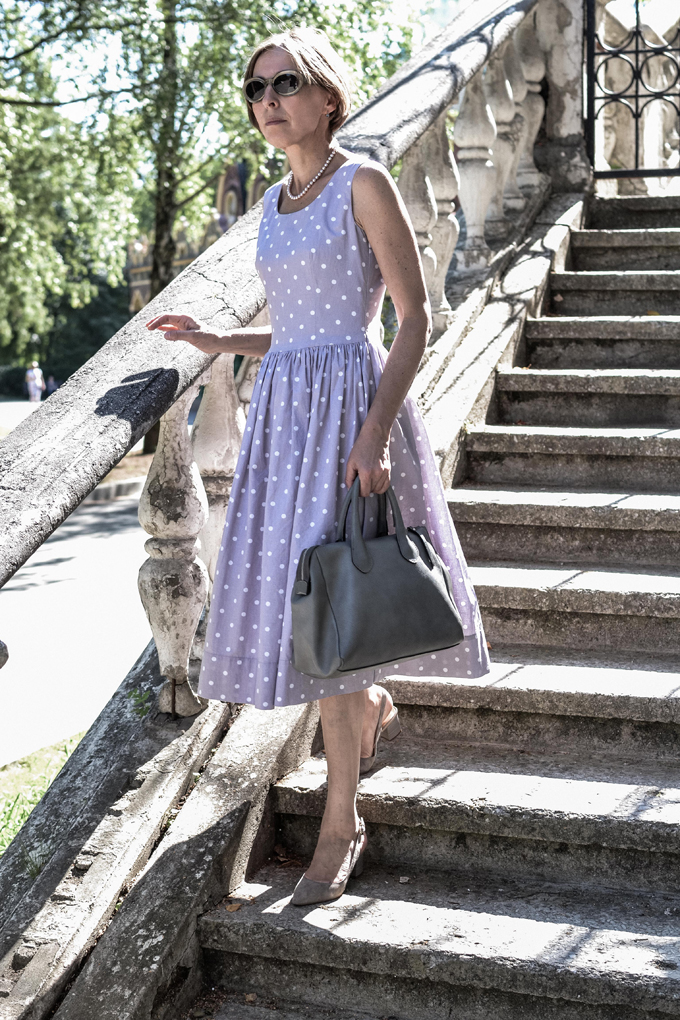 pastel polkadot dress 4