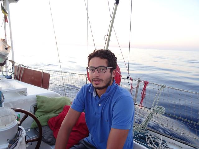 Yahia après la dernière nuit de la traversée