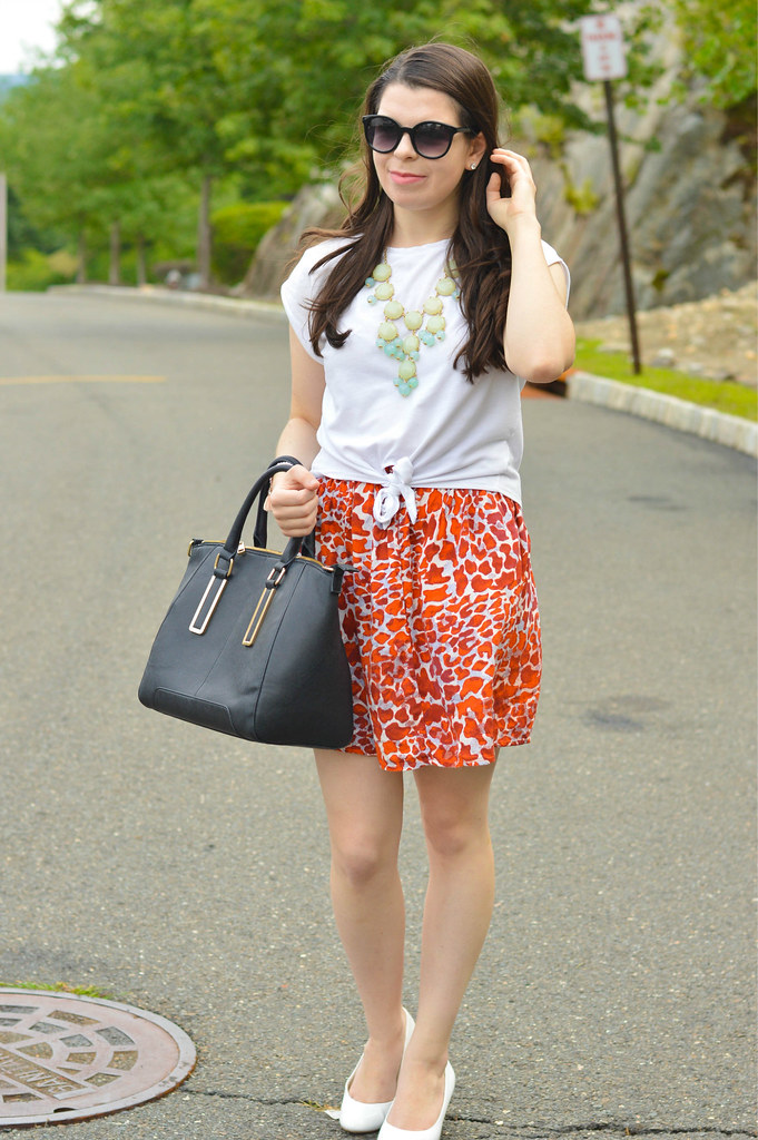h&m printed skirt