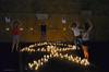 Indalo,mosaico de  velas, Mojacar pueblo/ Noche de LLuvia de las Perseidas