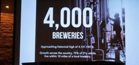 Four thousand breweries in the United States.