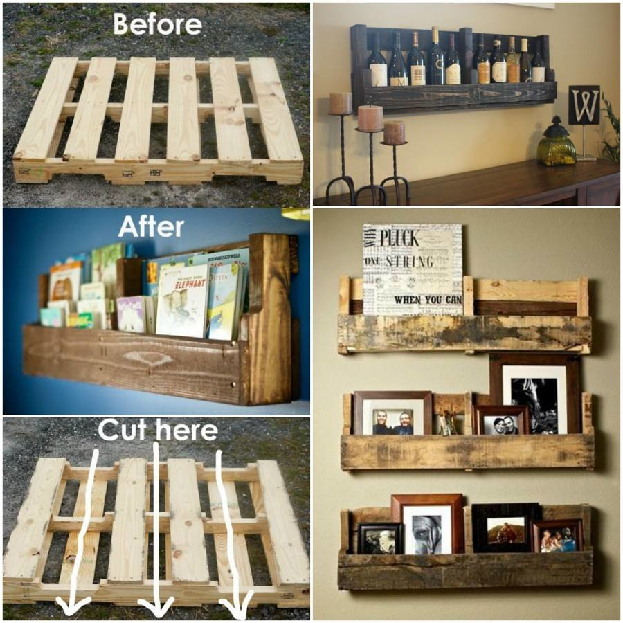 Recycle Pallet: Recycle Wooden Pallets Into Bookshelves