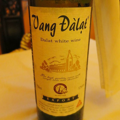 白ワイン、ボトルでどーん。ここら辺から、フュージョン。