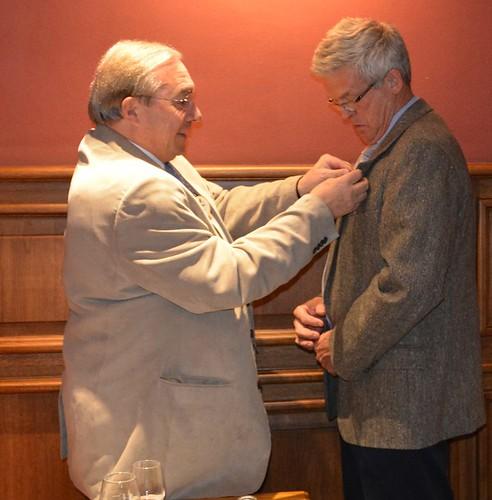 Philippe reçoit la médaille du Membership Growth Award pour le recrutement en 2014-2015