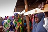 Kenya/ Somali refugees. Somali refugees cue at the reception center in Dagahaley camp. After a long journey often by foot, through perilous territory with little food and water refugees go through a reception process that includes medical screening and a  by ( Voice Nature. )