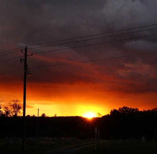 October Alabama sunset