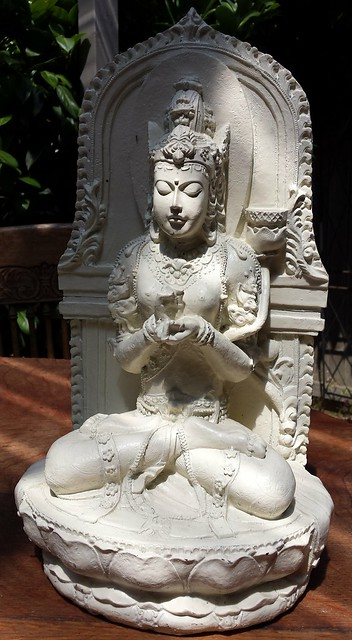 Prajñāpāramitā statue, copy from Singhasari, East Java. turning the wheel of the law, Seattle, Washington, USA