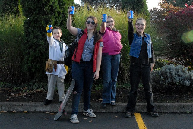 Kids on Back To The Future Day
