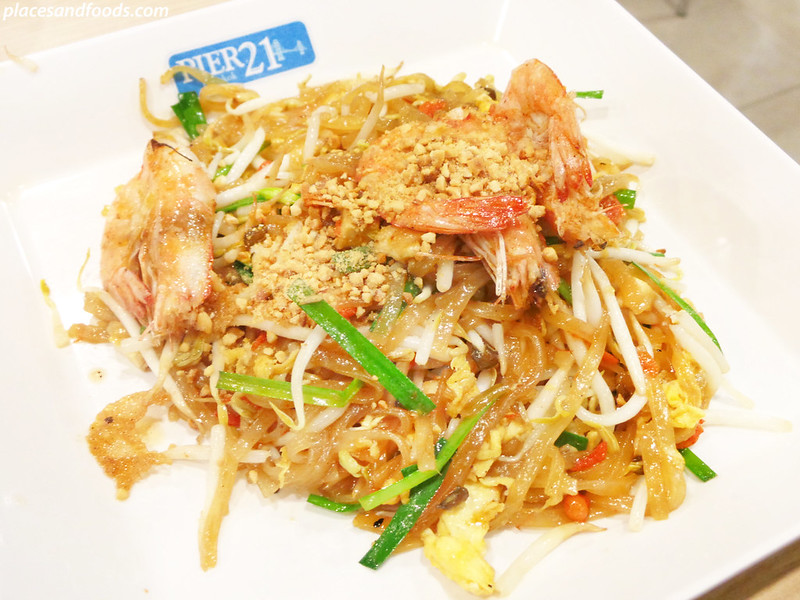pier 21 terminal 21 food court prawn pad thai