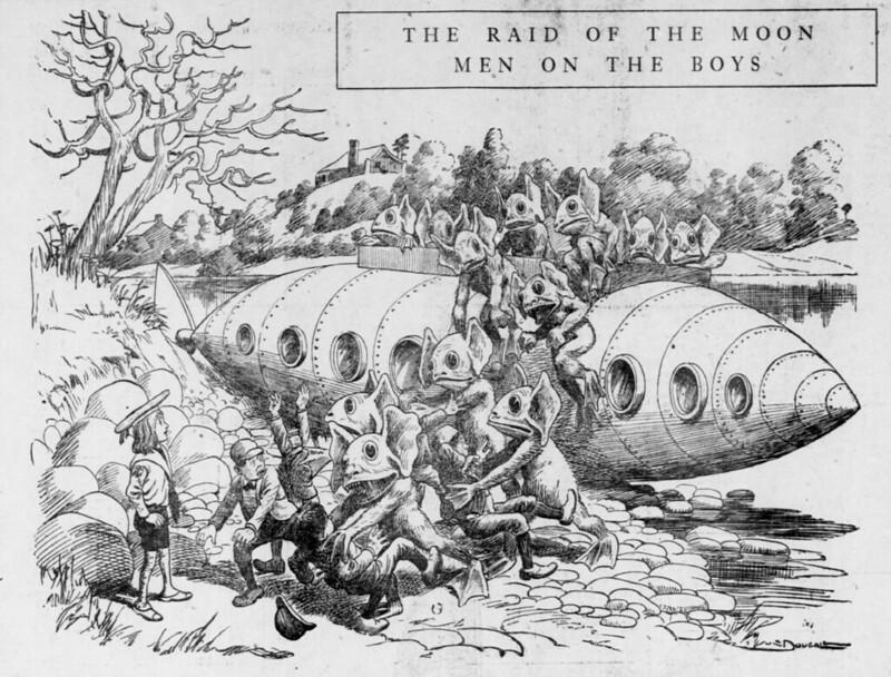 Walt McDougall - The Salt Lake herald., April 05, 1903, The Raid Of The Moon Men On The Boys