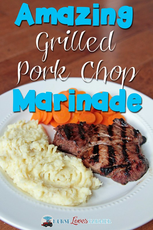 An amazing pork chop marinade to make that is savory and full of flavour. Marinade overnight for best results!