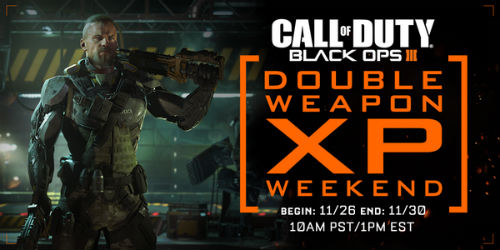 This Weekend: Call of Duty: Black Ops 3 gets Double Weapon XP