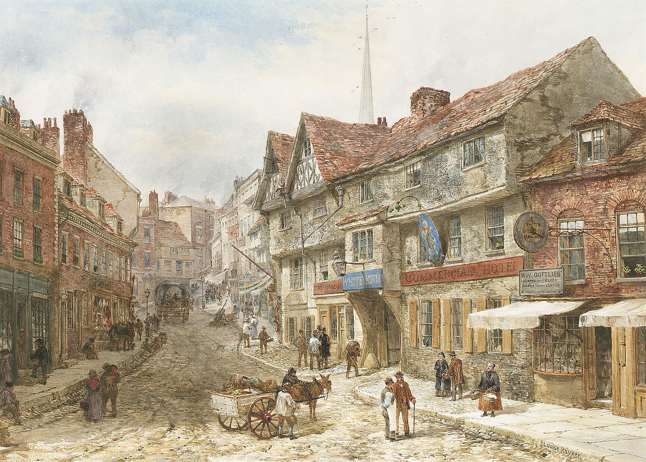Wyle Cop, Shrewsbury by Louise Rayner