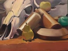 Full palette oil still life, 2012