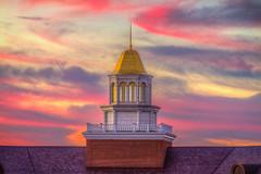 Caruth Hall Cupola at Sunset