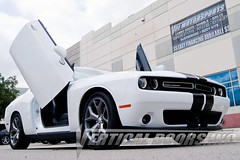 Dodge Challenger with Bolt-on Vertical Lambo Doors by Vertical Doors, Inc.