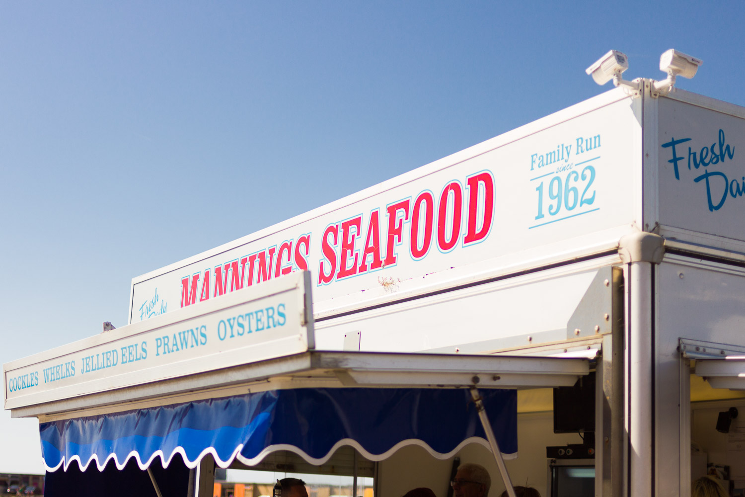 margate seafood stand blue sky seaside town