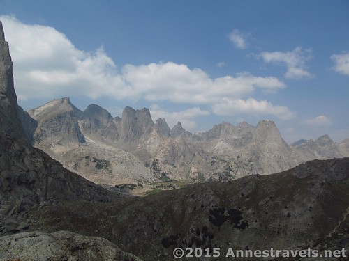 The Cirque of Towers from Jackass Pass - the picture doesn't do it half justice. Wind River Range, Wyoming