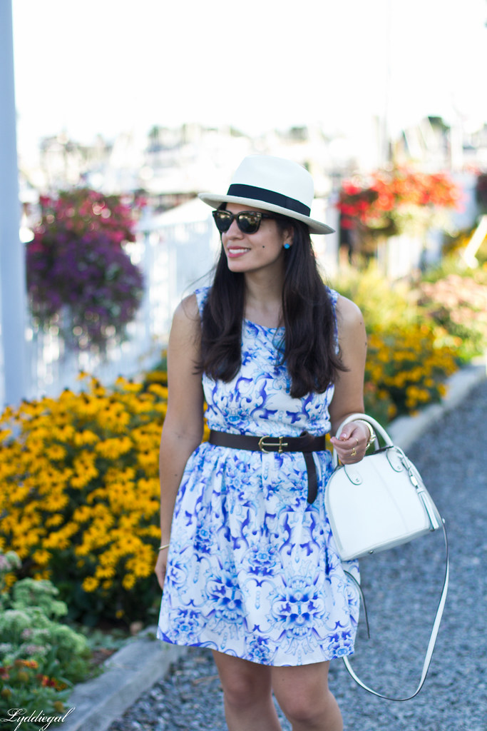 blue and white porcelain print dress, panama hat_-2.jpg