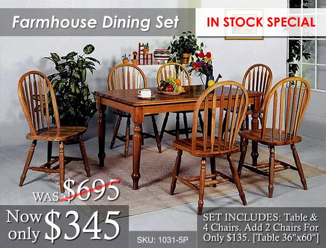Farmhouse Dining 1031-5P