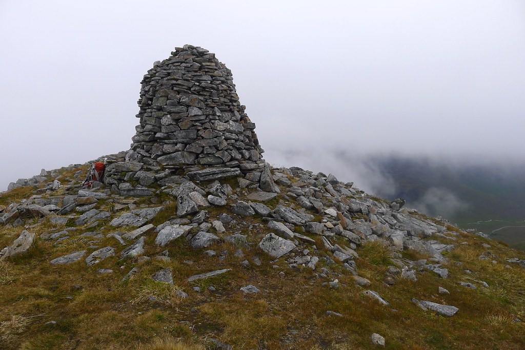 Summit cairn of A' Chraileag