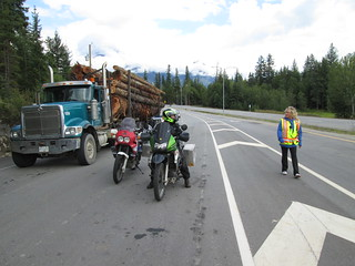 Waiting for the Upper Arrow Lake Ferry in British Columbia
