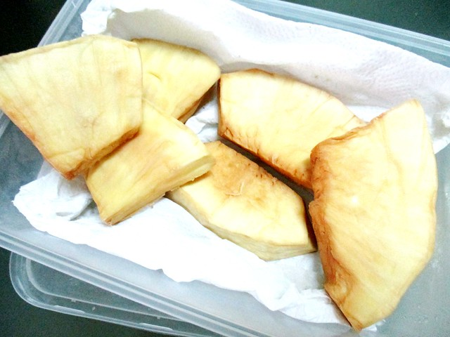 Deep fried sukun slices