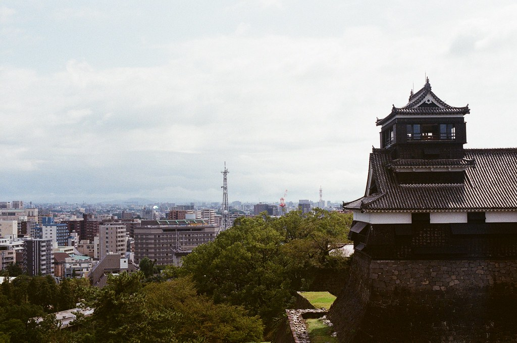 宇土櫓 熊本城 熊本 Kumamoto 2015/09/06 宇土櫓上面的景色  Nikon FM2 / 50mm Kodak UltraMax ISO400 Photo by Toomore
