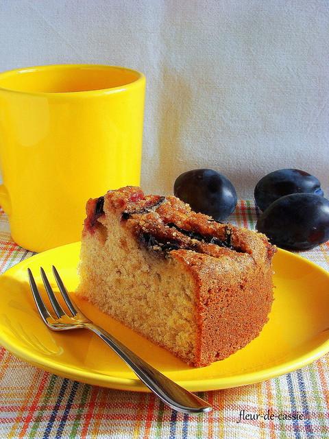 сливовый сметанный пирог 2