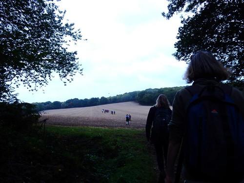Crossing a field