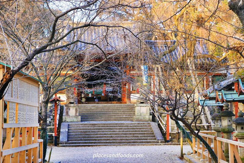 Himuro Shrine Nara temple with trees