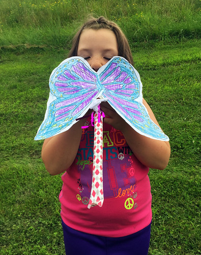 Lucy and her butterfly craft