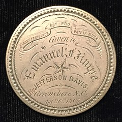 Engraved 1859 Seated Dollar reverse