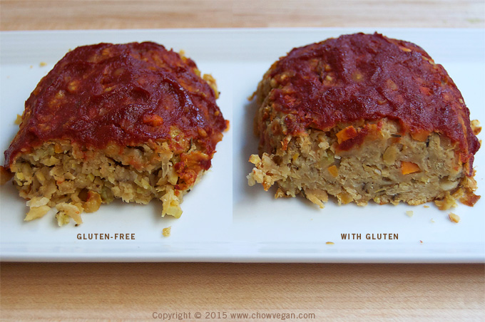 Vegan Homestyle Meatloaf Gluten Comparison