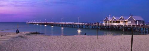 ocean sunset sea southwest pier nikon dusk jetty australia westernaustralia busselton d5100