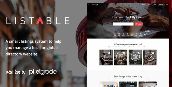 LISTABLE v1.9.0 – A Friendly Directory WordPress Theme