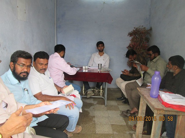 Aadhar - Election Card linking camp at the office of Waseem Siddiqui Vice President Azad Yuva Brigade