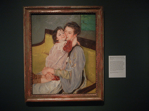 DSCN0933 _ Maternal Caress, Mary Stevenson Cassatt, Looking East, Asian Art Museum