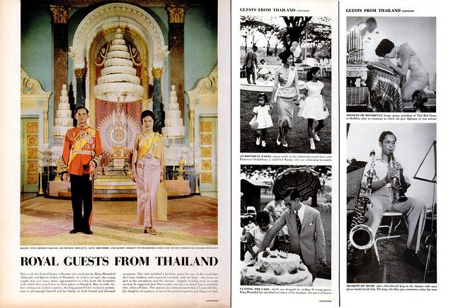 LIFE Magazine 20 June 1960 - ROYAL GUESTS FROM THAILAND - NHỮNG VỊ KHÁCH HOÀNG GIA TỪ THÁI LAN