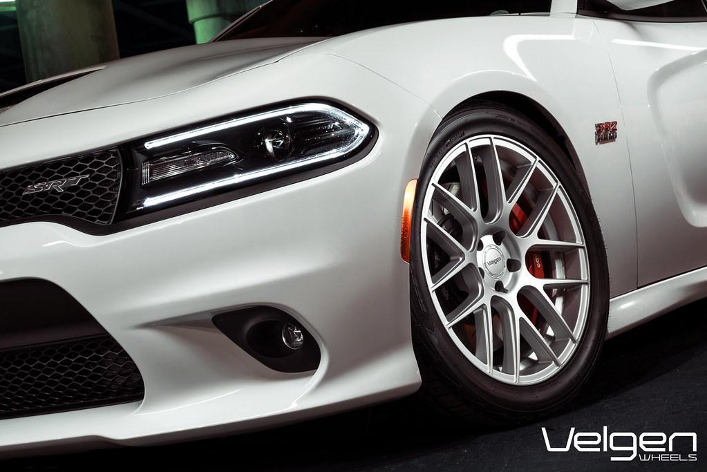 Dodge Charger SRT8 on Velgen Wheels VMB7 Matte Silver 20x9 & 20x10.5